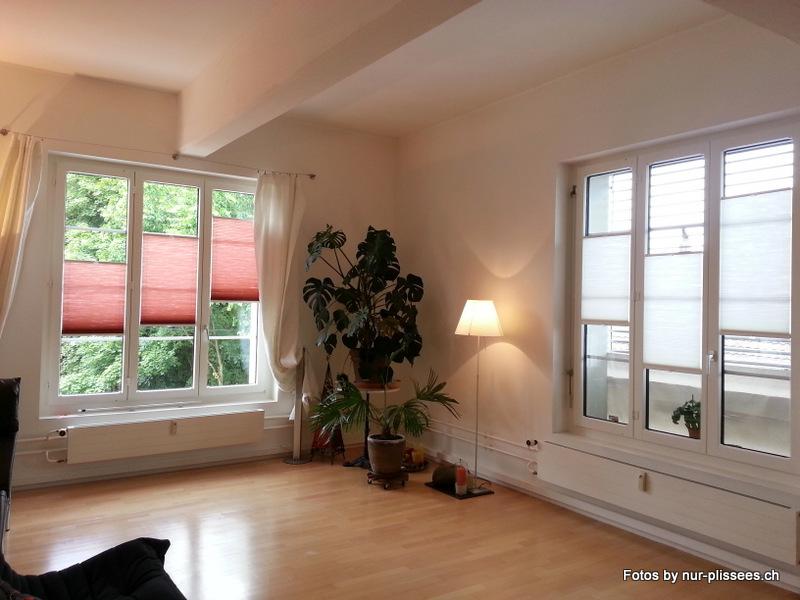 Plissees bzw faltstoren im wohnzimmer - Plissee wohnzimmer ...